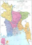 Map of Bangladesh. Click for enlarge